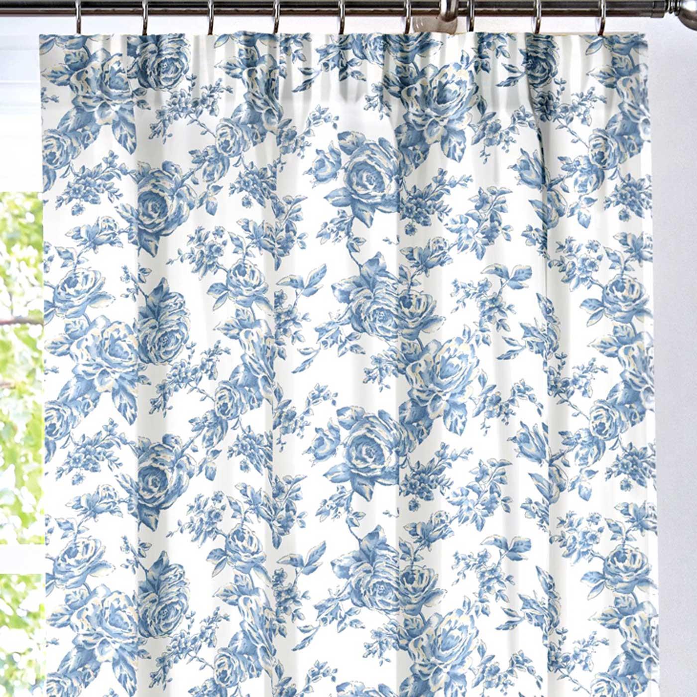 Fundas-de-edredon-azul-con-motivos-florales-Patchwork-Toile-pais-Edredon-Cubierta-de-Lujo-sistemas miniatura 20