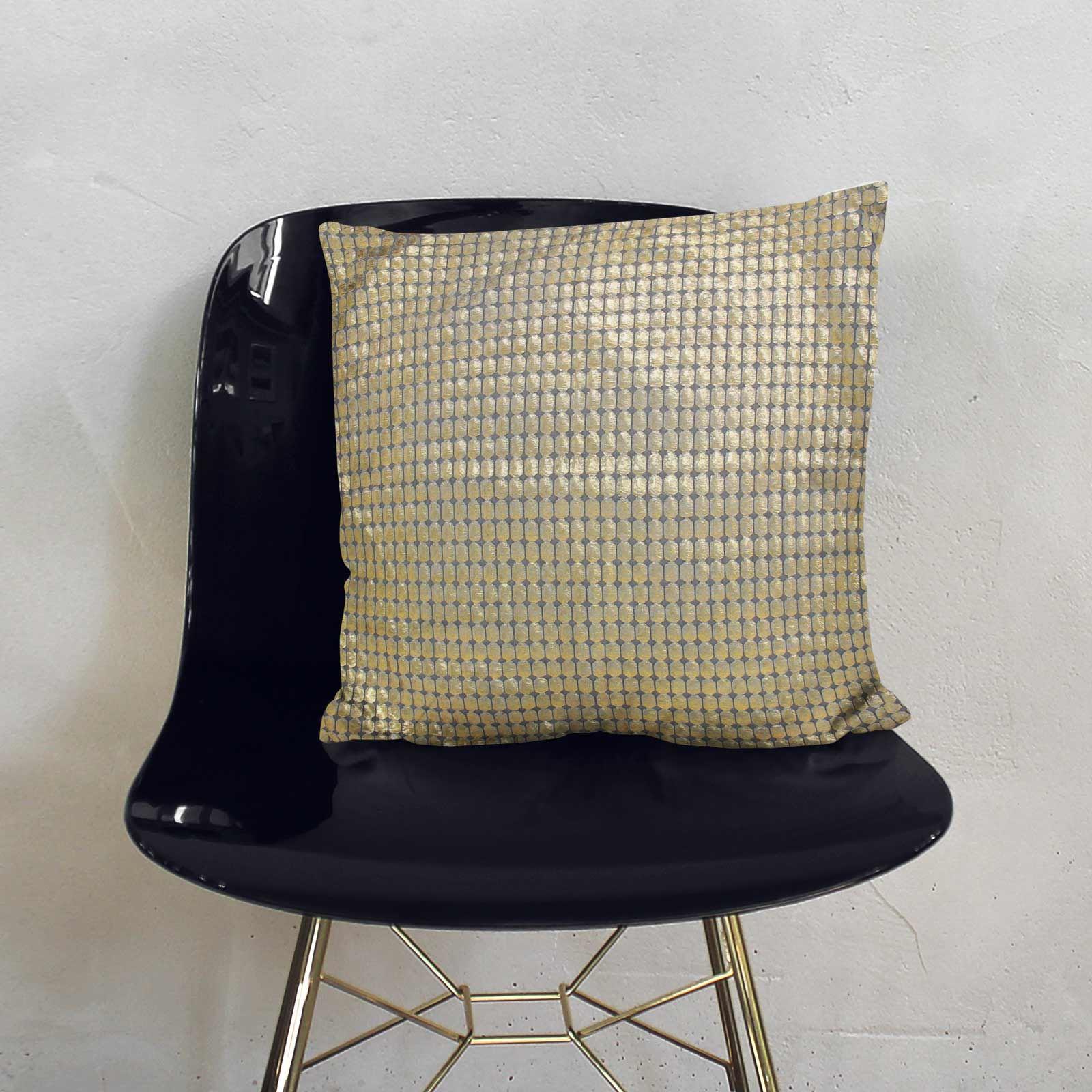 Impresion-de-lamina-metalica-Moderno-Funda-De-Cojin-Almohadon-cubiertas-de-cojines-18-034-X-18-034 miniatura 13