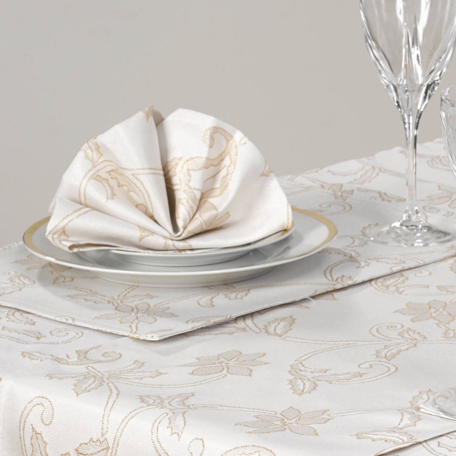 Rose Gold Set Of 2 Glitter Glass Dinner Table Placemats Serving