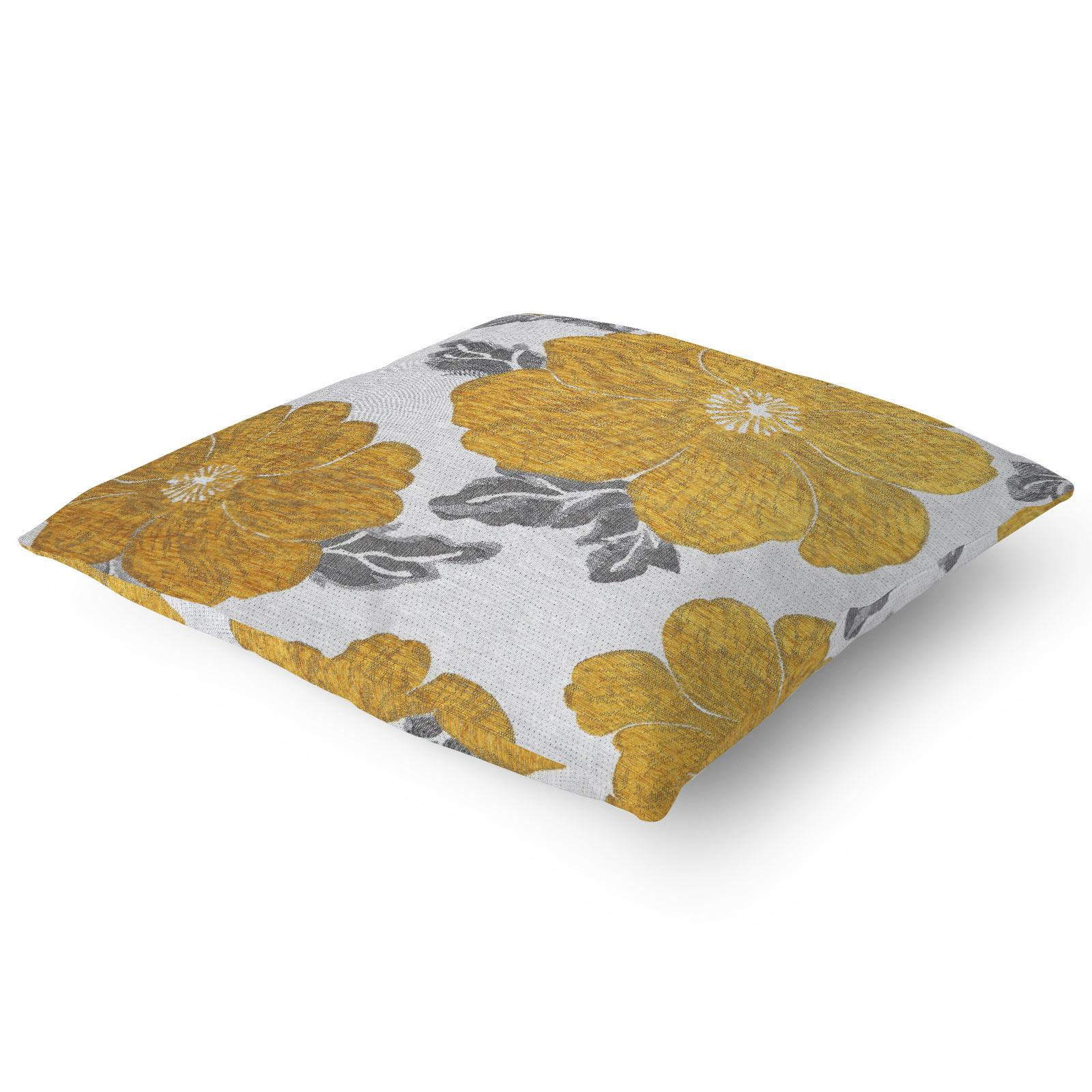 Chenille-Cushion-Cover-Floral-Reversible-Thick-Cushions-Covers-18-034-22-034-9-Colours thumbnail 3