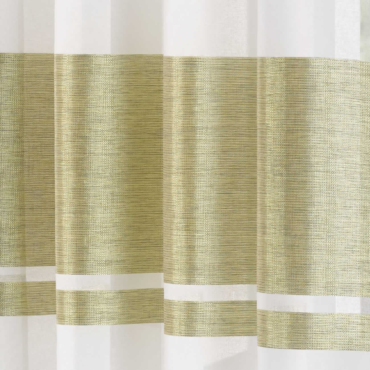 Eyelet Voile Curtain Panel Metallic Stripe Single