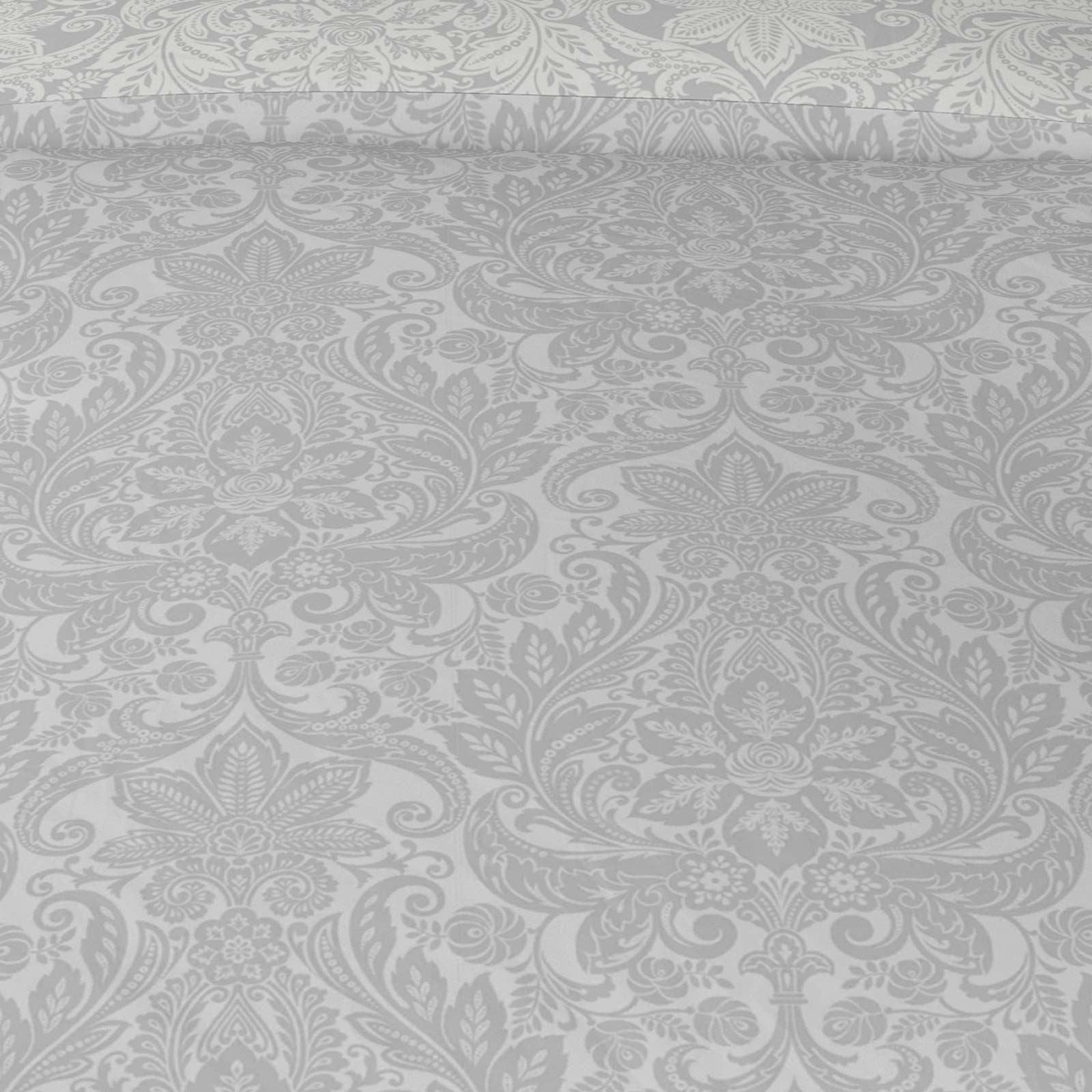 Grigio-Argento-Copripiumino-Stampato-Jacquard-Quilt-Set-Set-di-biancheria-da-letto-copre miniatura 45