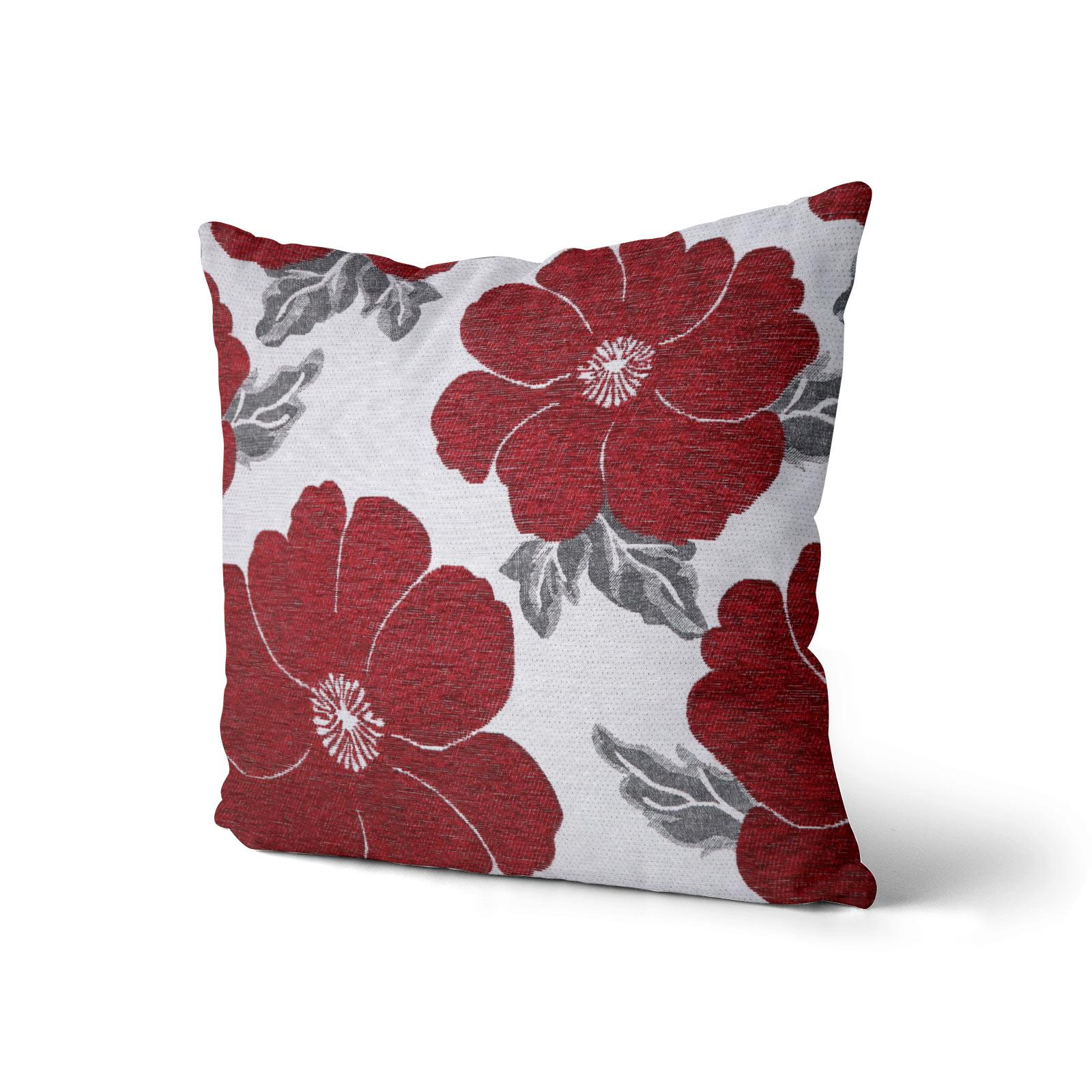 Chenille-Cushion-Cover-Floral-Reversible-Thick-Cushions-Covers-18-034-22-034-9-Colours thumbnail 35