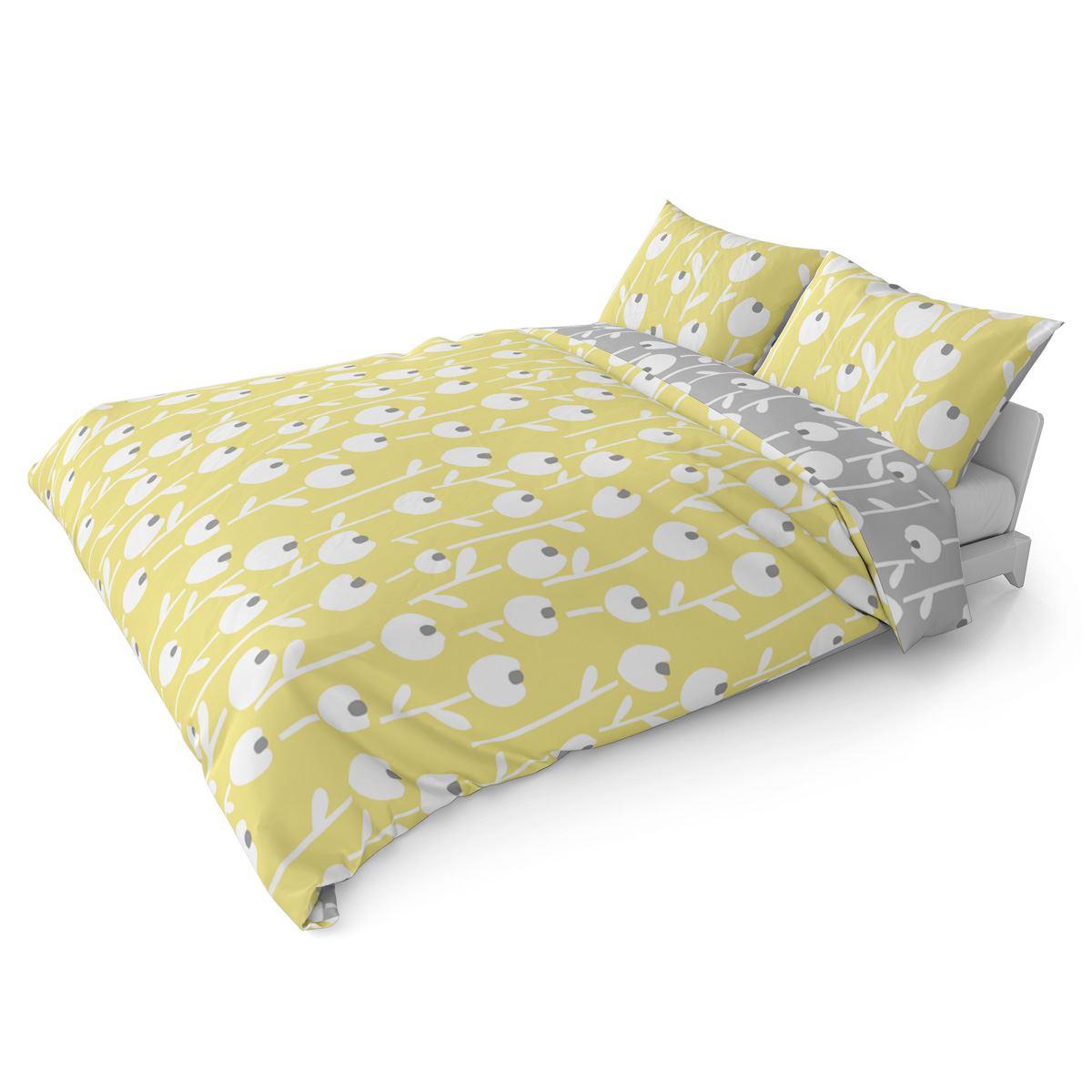 Mostaza-amarillo-ocre-Funda-de-edredon-impreso-Edredon-juego-ropa-de-cama-cubre-conjuntos miniatura 6