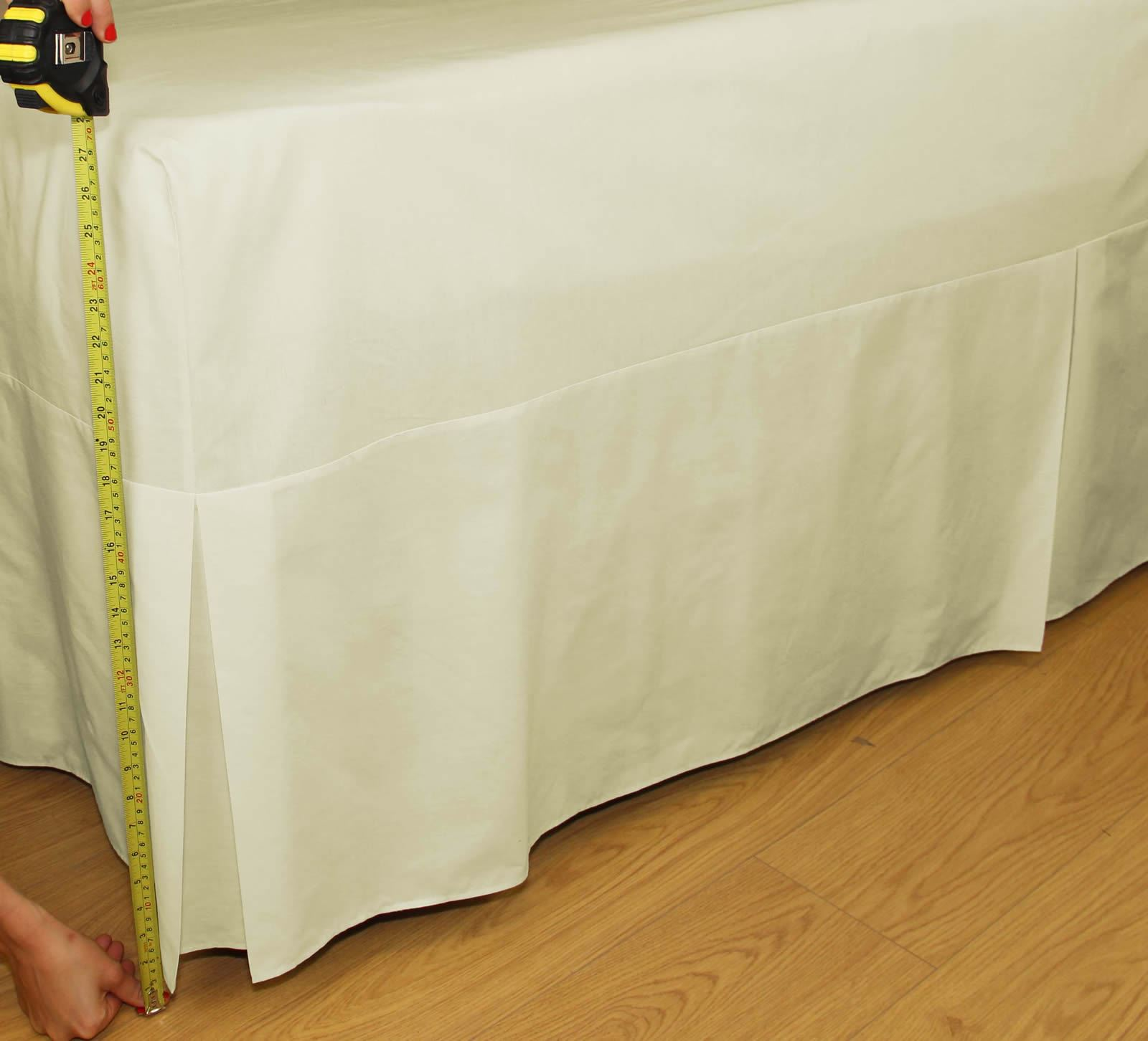 percale fitted valance sheet 180 thread count 26 extra deep box bed skirt ebay. Black Bedroom Furniture Sets. Home Design Ideas