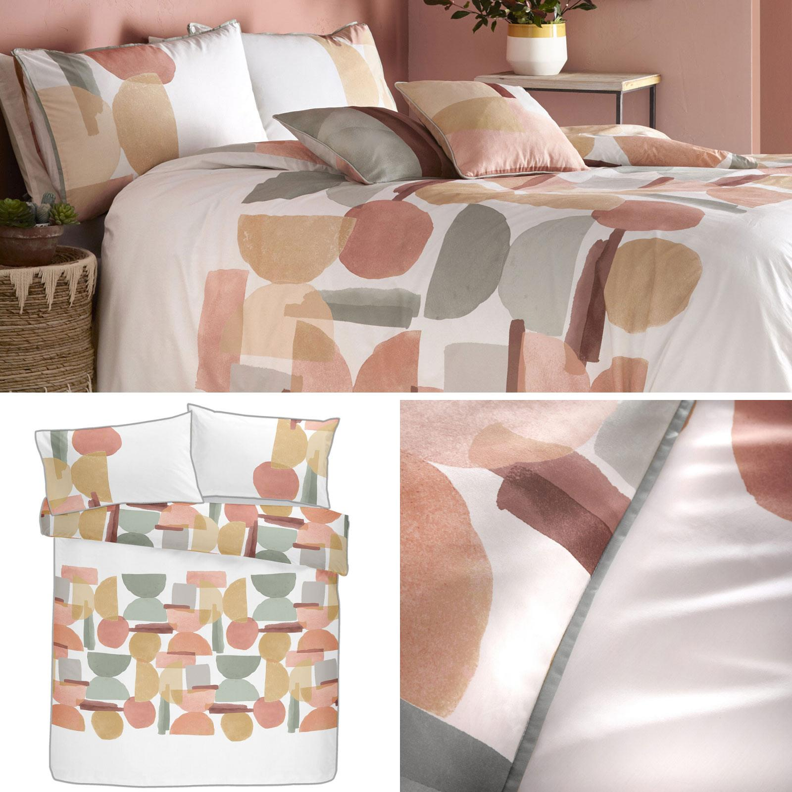 White Duvet Covers Coral Abstract 100 Cotton Luxury Quilt Cover Bedding Sets Ebay
