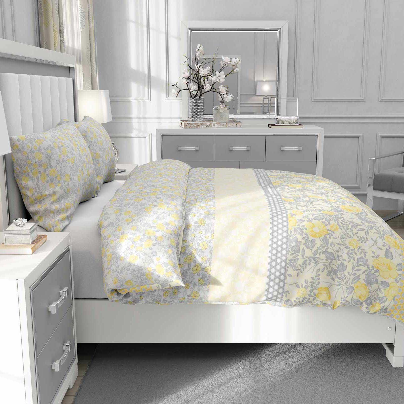 Mostaza-amarillo-ocre-Funda-de-edredon-impreso-Edredon-juego-ropa-de-cama-cubre-conjuntos miniatura 20