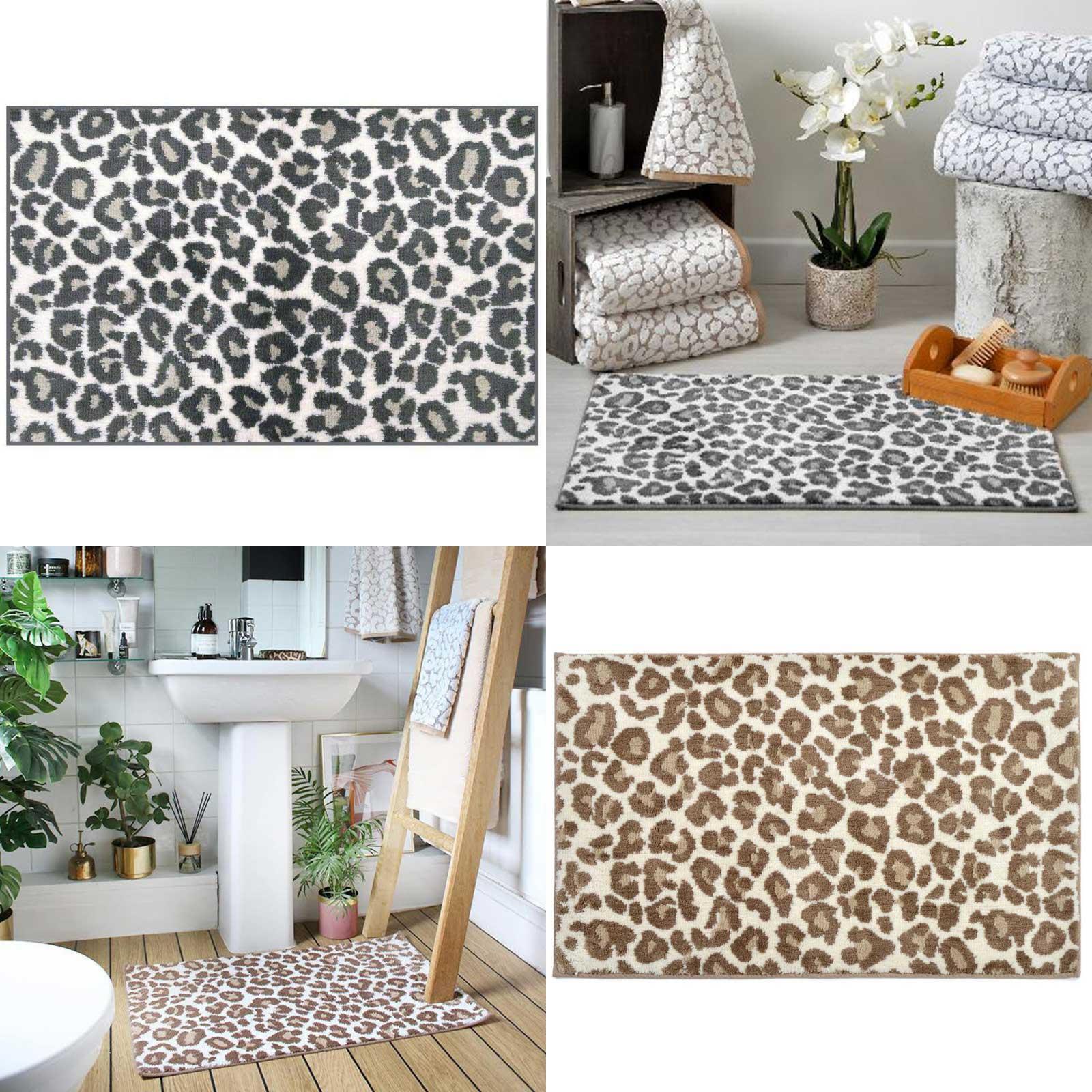 Picture of: Leopard Print Bath Mat Non Slip Super Soft Absorbent Animal Bathroom Shower Mats Ebay