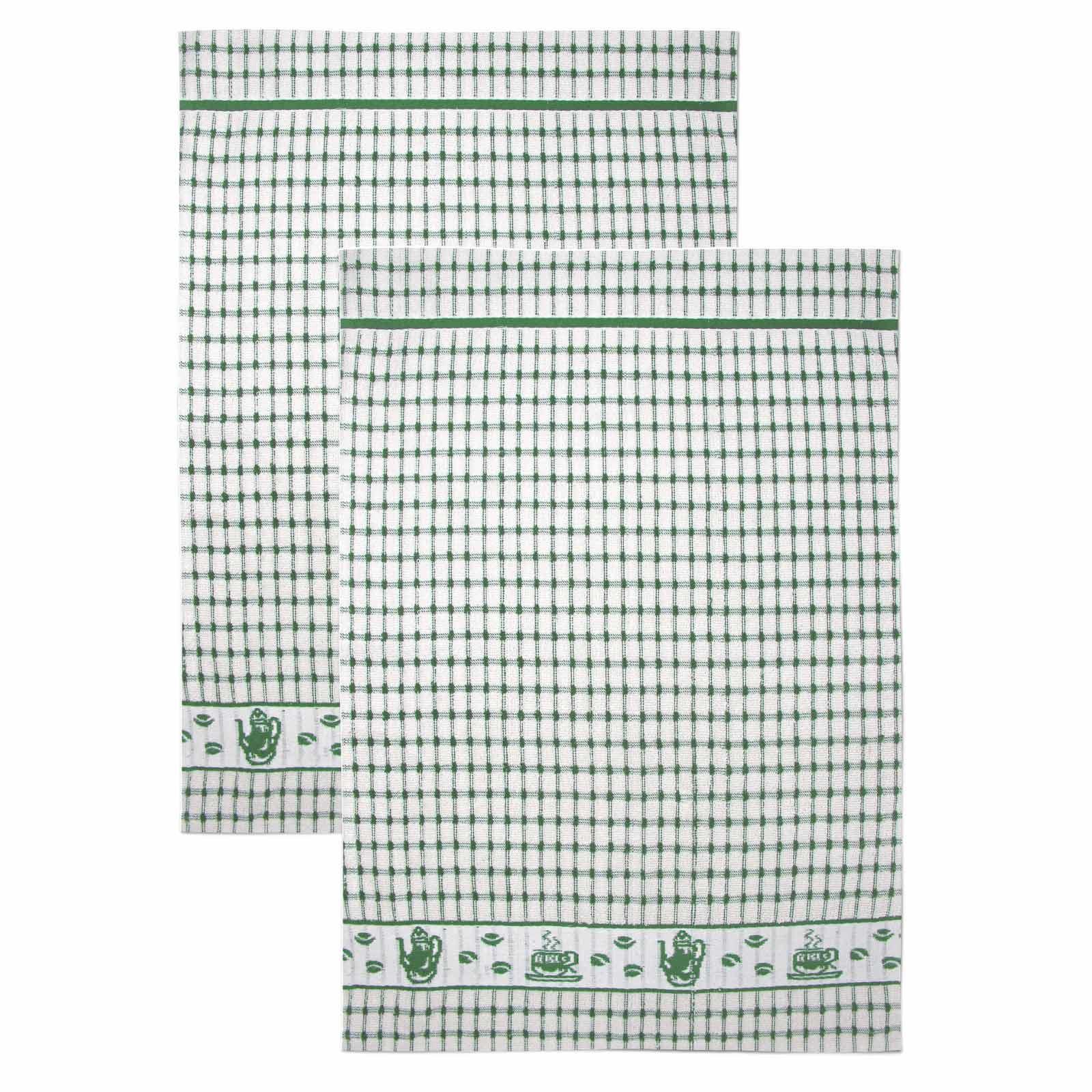 Packs-of-2-4-6-12-Tea-Towels-100-Cotton-Terry-Kitchen-Dish-Drying-Towel-Sets thumbnail 22