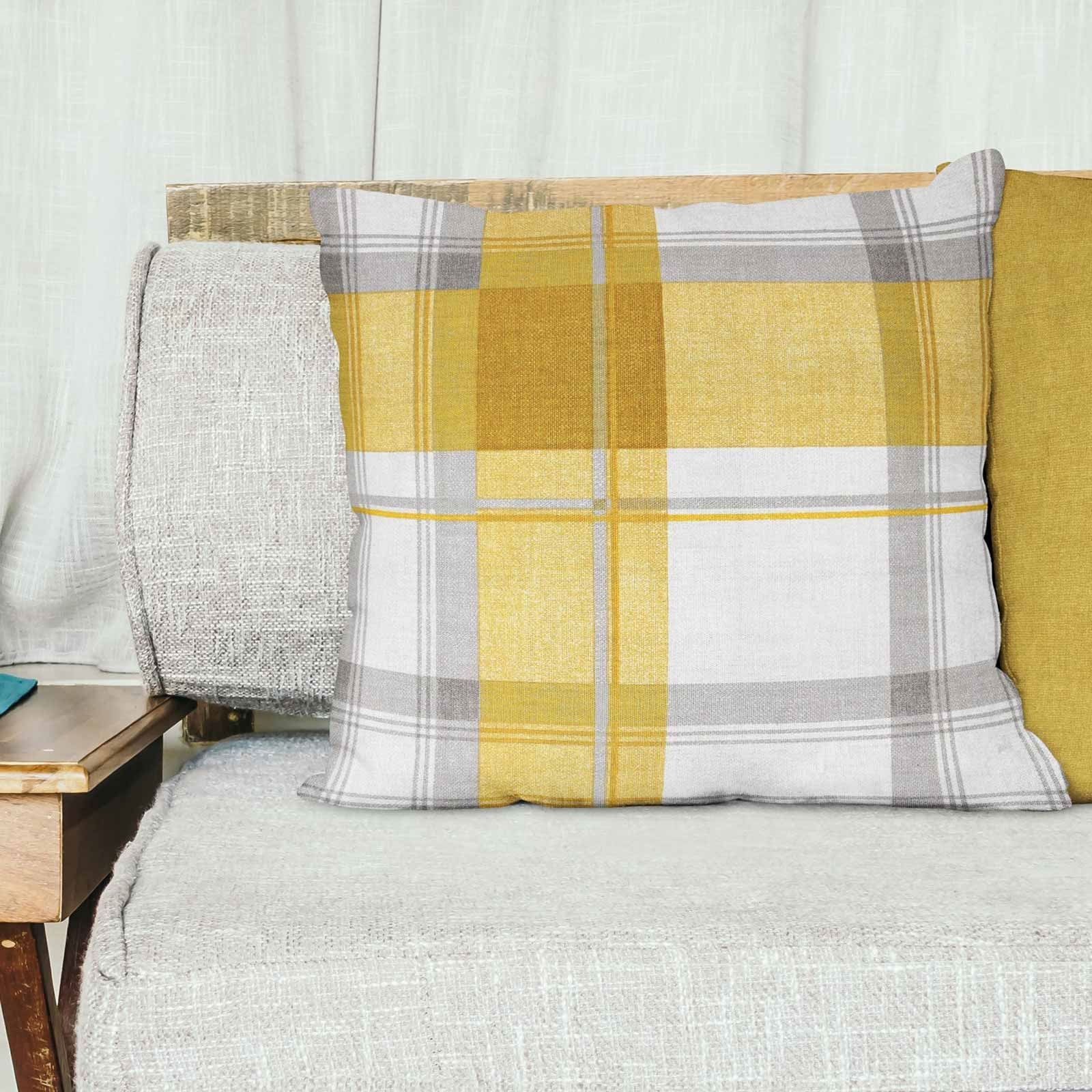 Grey-Ochre-Mustard-Cushion-Cover-Collection-17-034-18-034-Covers-Filled-Cushions thumbnail 25