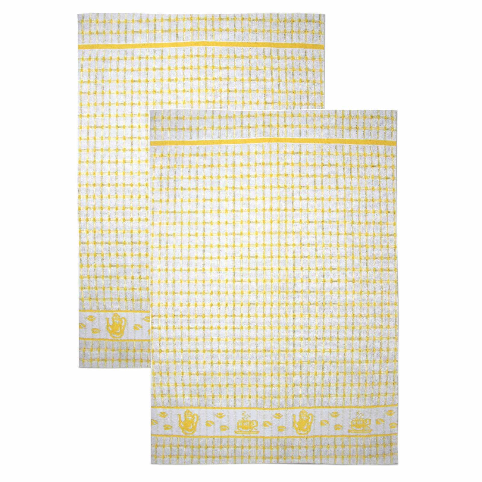 Packs-of-2-4-6-12-Tea-Towels-100-Cotton-Terry-Kitchen-Dish-Drying-Towel-Sets thumbnail 16