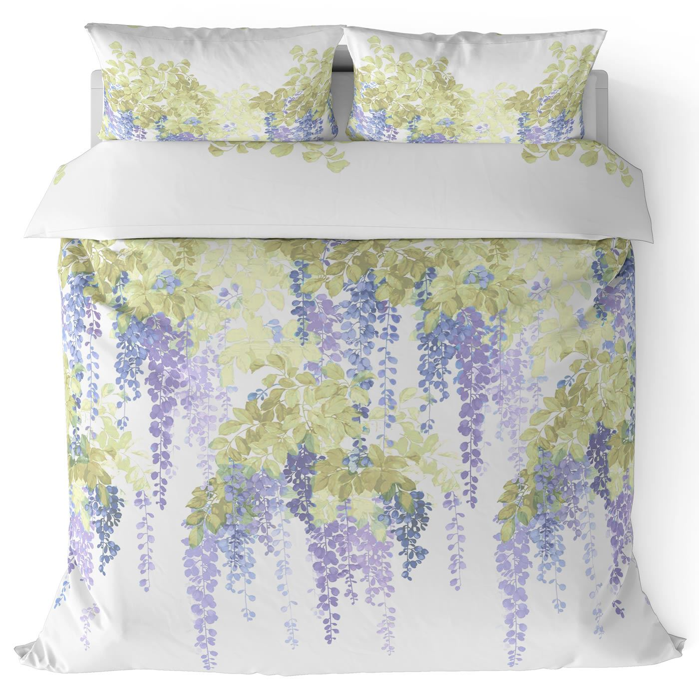Funda-nordica-azul-azul-marino-verde-azulado-edredon-algodon-estampado-juego-conjuntos-de-cama-cubre miniatura 25