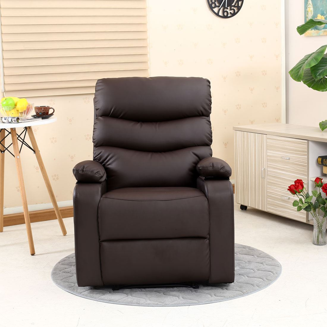 Ashby Leather Recliner Armchair Sofa Home Lounge Chair