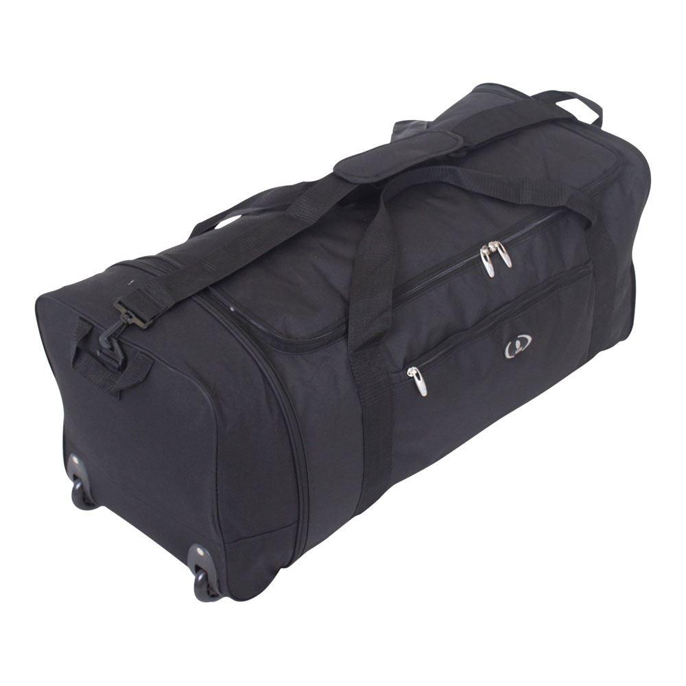 Large-Folding-2-Wheeled-Travel-Sports-Weekend-Carry-Holdall-Luggage-Bag