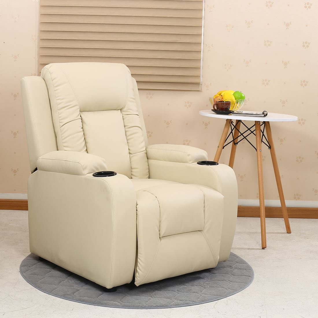Charmant OSCAR LEATHER RECLINER W DRINK HOLDERS ARMCHAIR SOFA