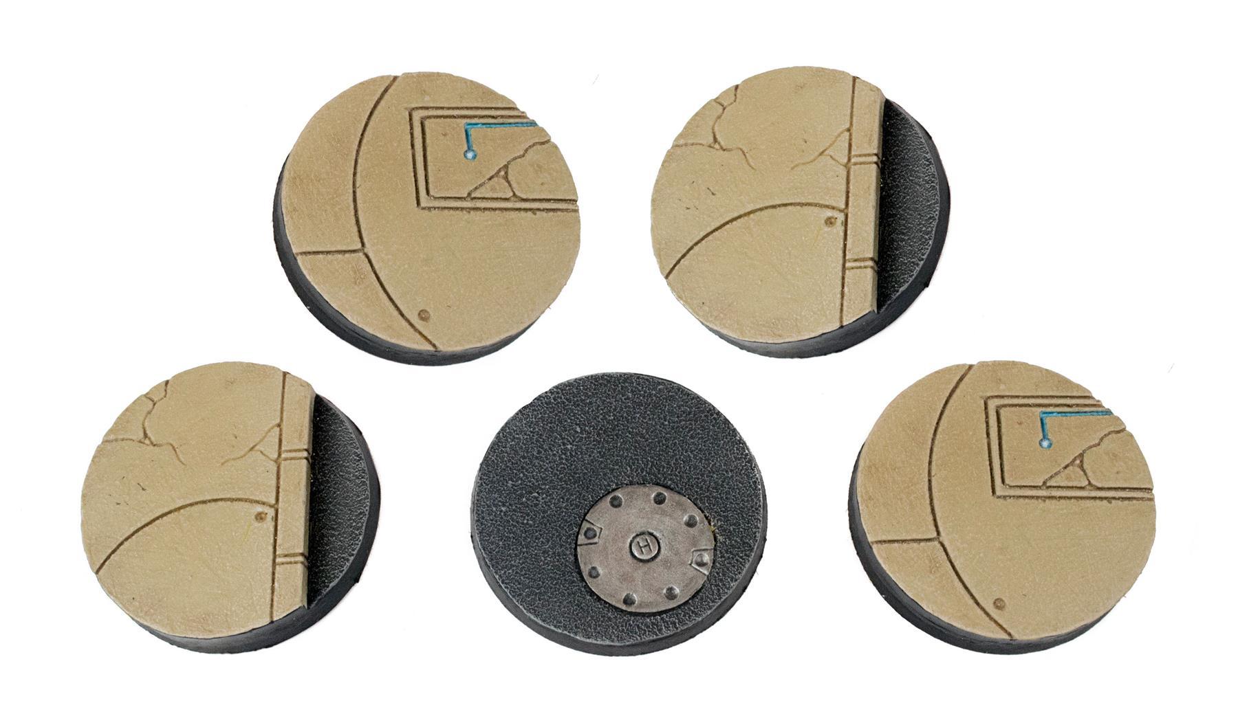 WWG Industry of War Sci-Fi Street Bases x 10 \u2013 28mm Wargaming Miniatures 25mm