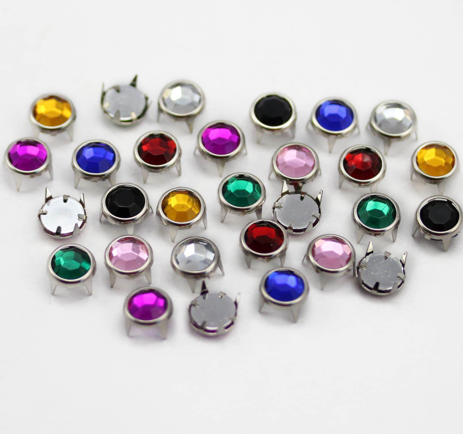 100 Pieces Medium Assorted Colors Bedazzler Rhinestones