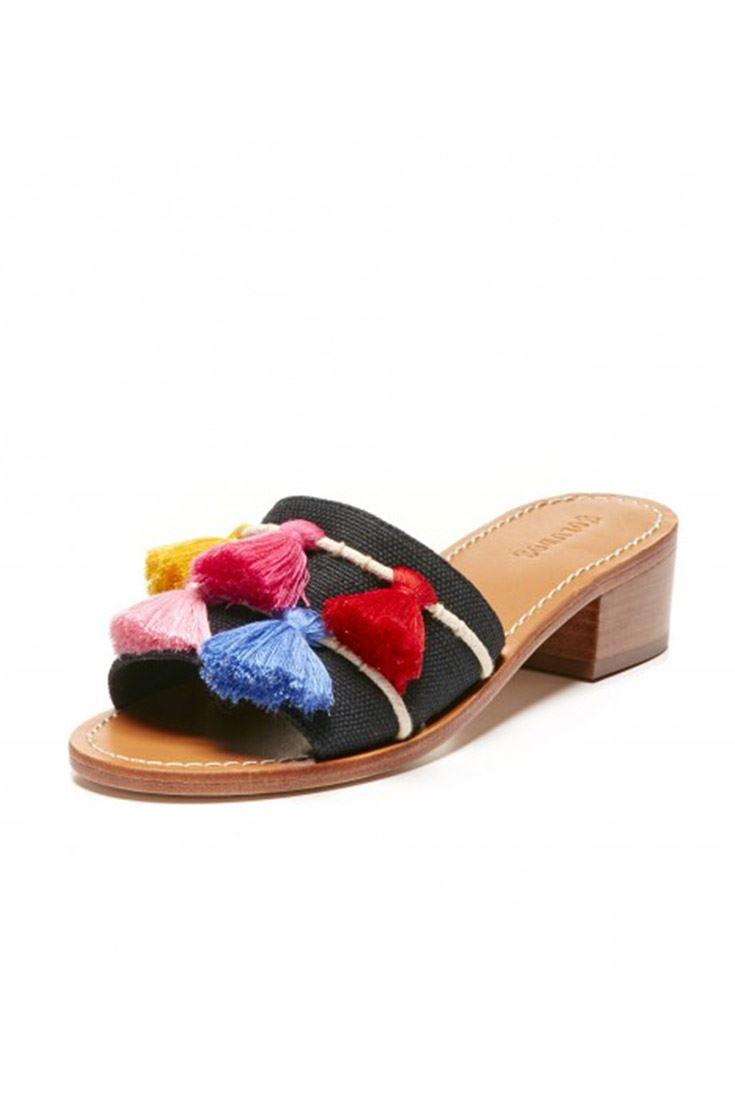 145881441b61 Details about Soludos - Women s Open Toe Tassel City Sandal - Black - Multi