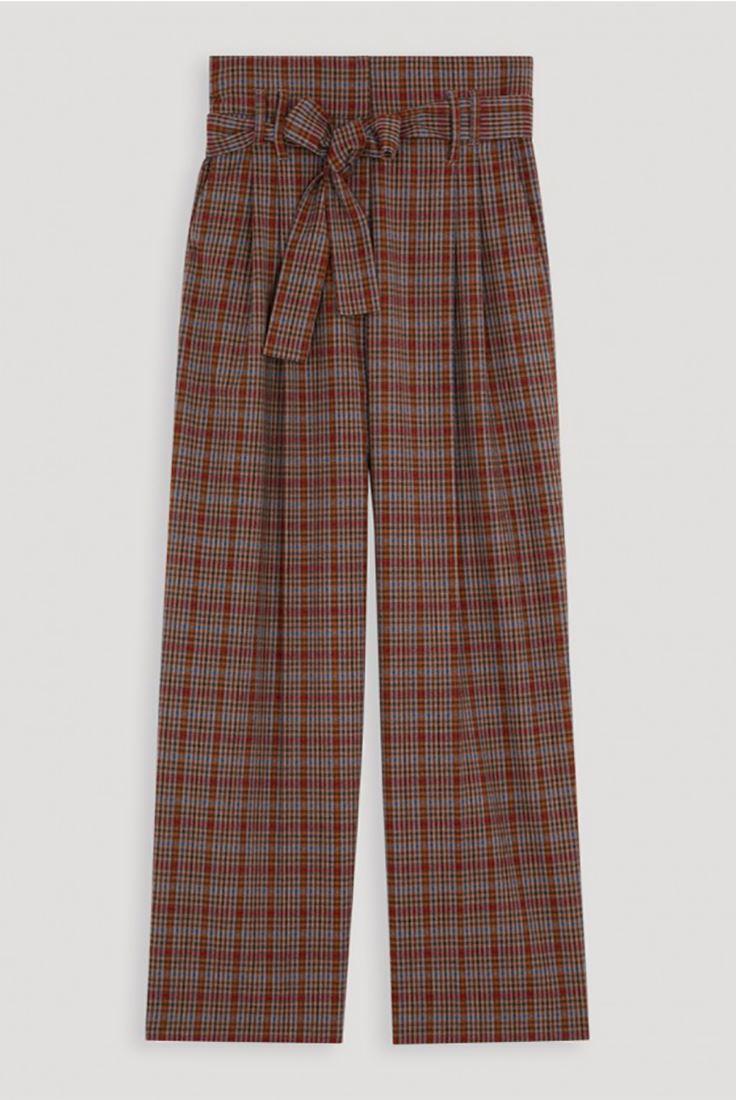 Jarmon pour caramel haute taille femmes à carreaux Pantalon Tara dqAwSd