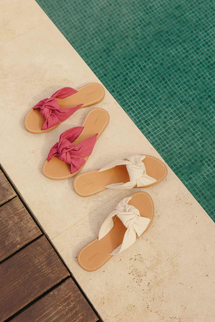 d890bc8fb4e59 ... Soludos - Women s Linen Knotted Slide Sandal - Blush ...