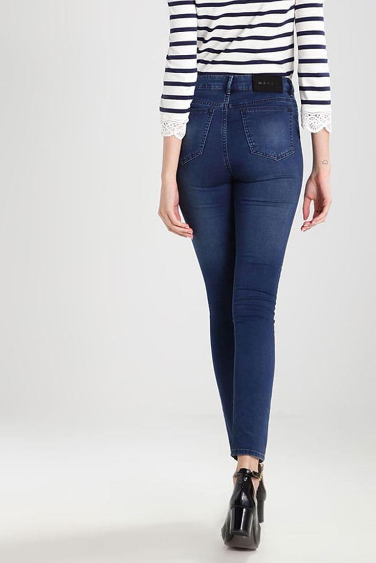 Asa Mid Rise Skinny Jeans - Trash blue W?ven fbfNyq