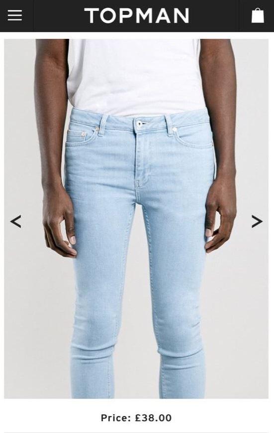 Topman stretch skinny jeans ebay