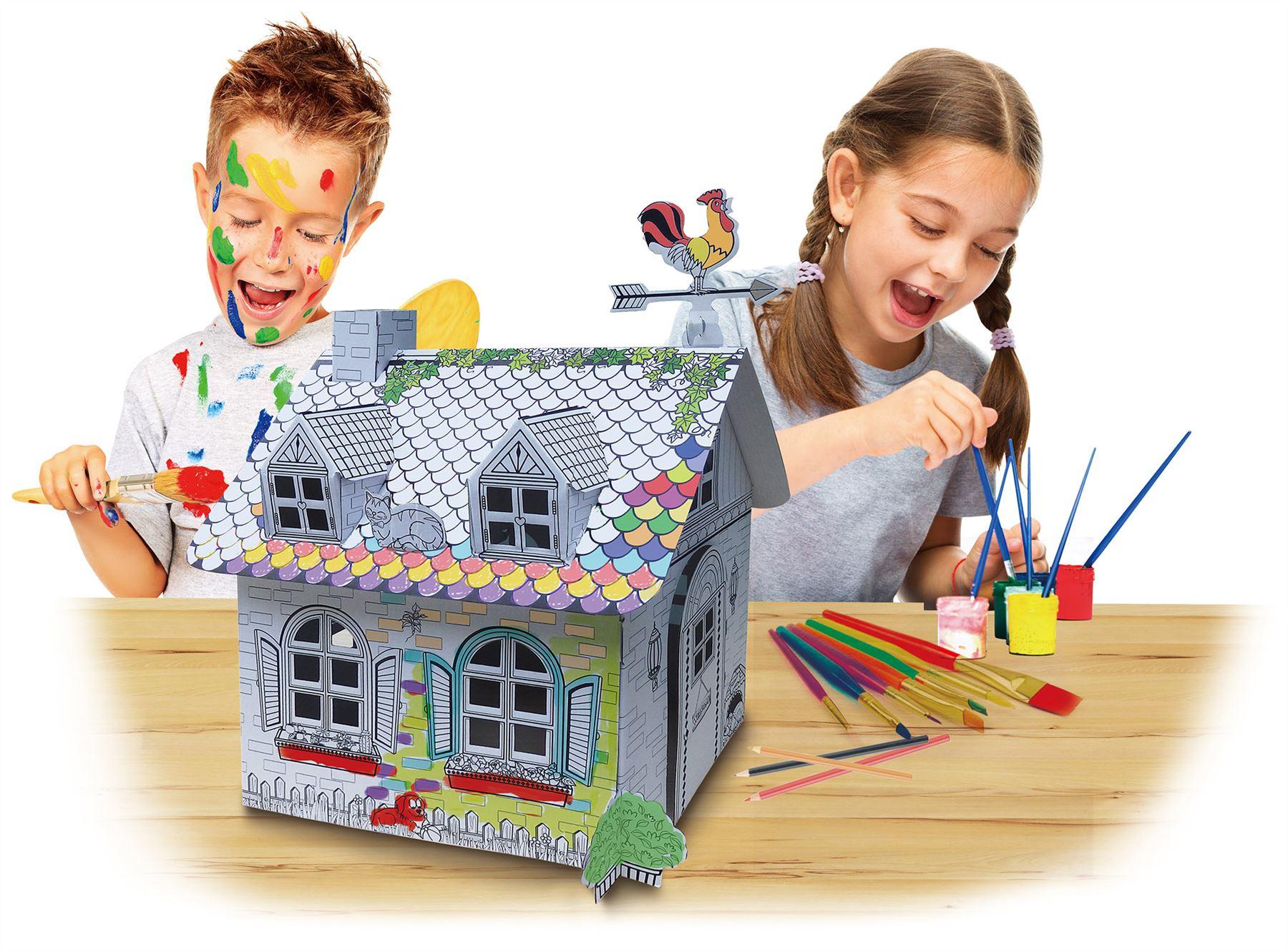 CHILDREN S AGES 3 PLAY BUILD & COLOUR EDUCATIONAL TOY CASTLE