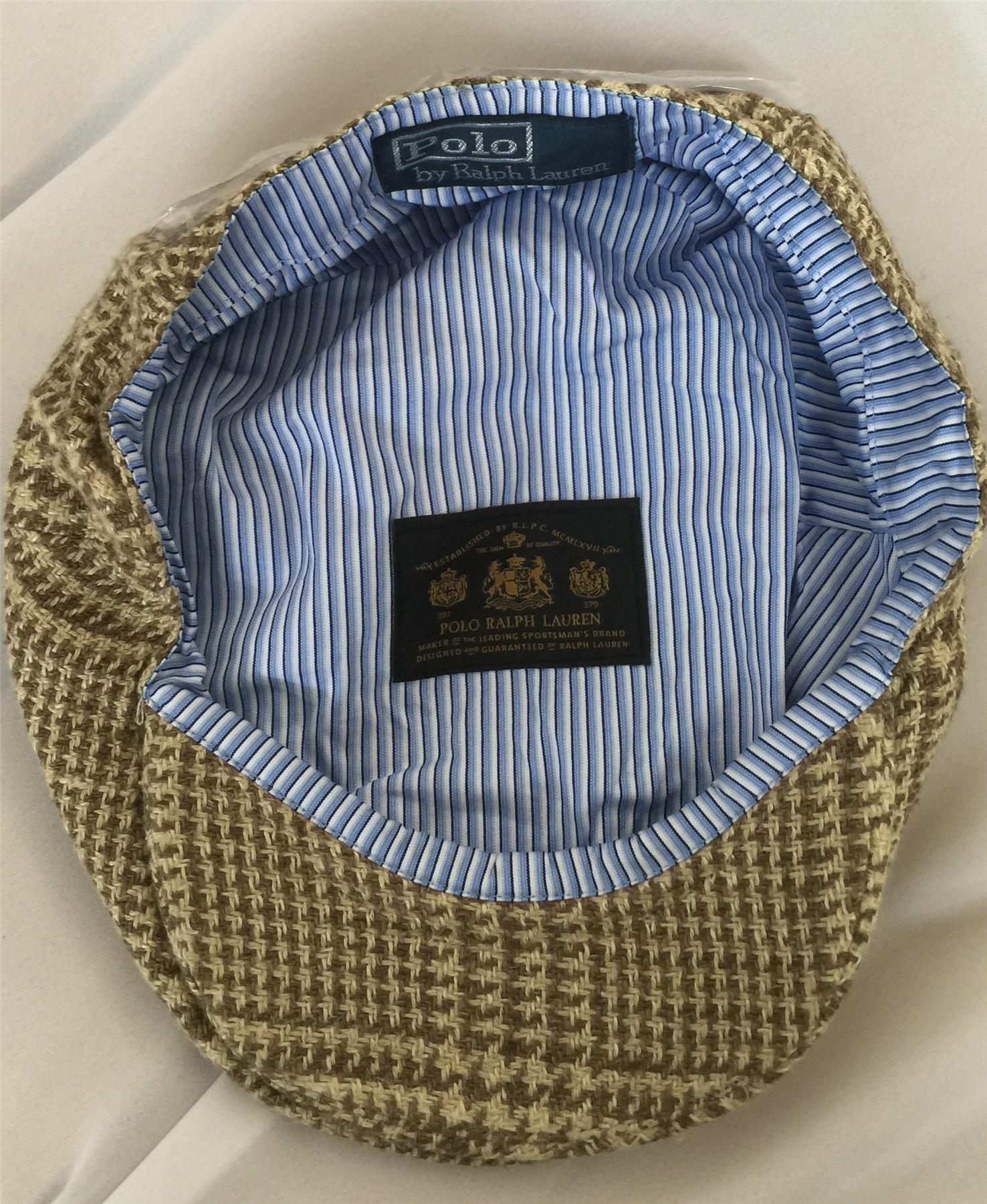 Polo Ralph Lauren Beige Marron Clair Tweed Adj Bracelet En