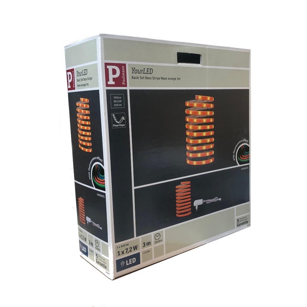 LED Streifen Paulmann YourLED Basic Set Deco Stripe Neon orange 3 m