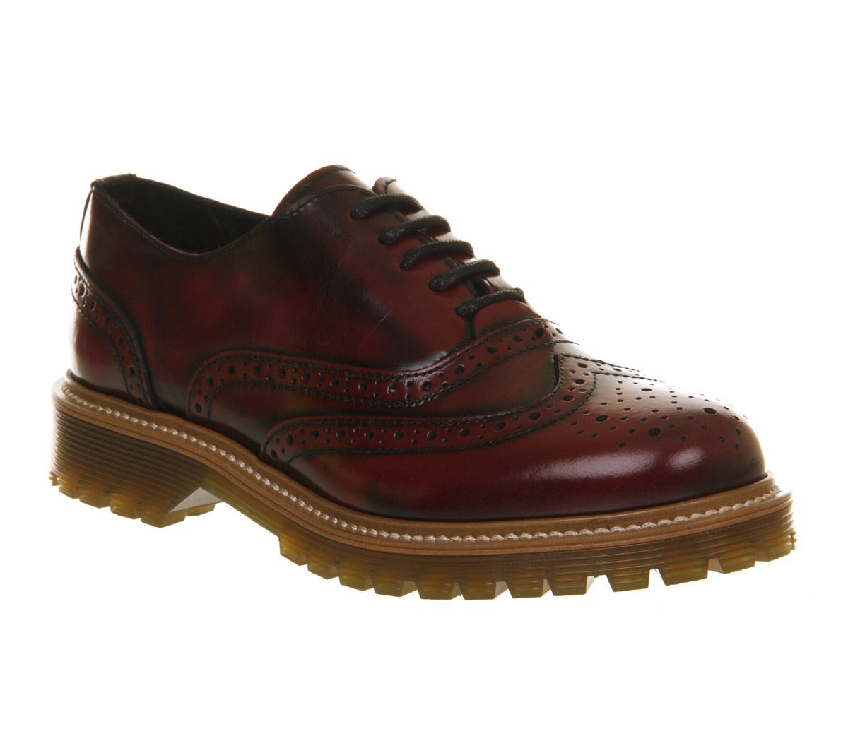 Office Vendetta Cleated Brogue Lace Up Up Lace Burgundy Box Leder UK 4 403263