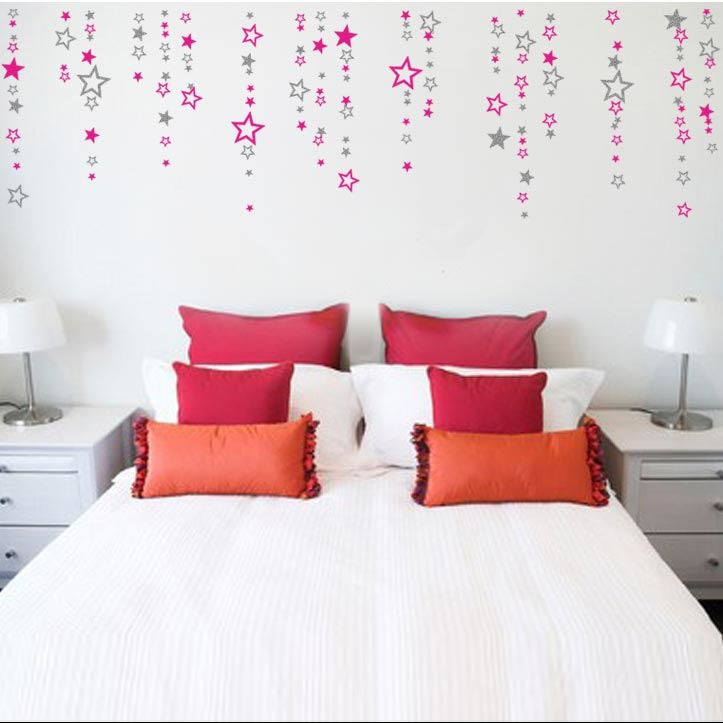 Adesivi murali stelle varie dimensioni x104 decorazione - Decorazione parete cameretta ...