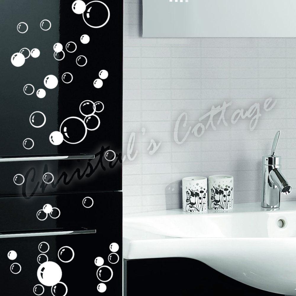 86 bulles d calque salle de bain mur d coration fen tre art autocollants enfants ebay