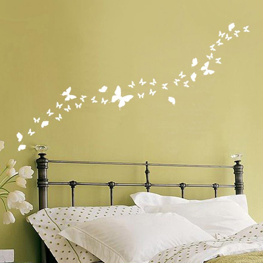 Adesivi murali farfalle varie misure fino a 53 per parete for Adesivi murali per bagno
