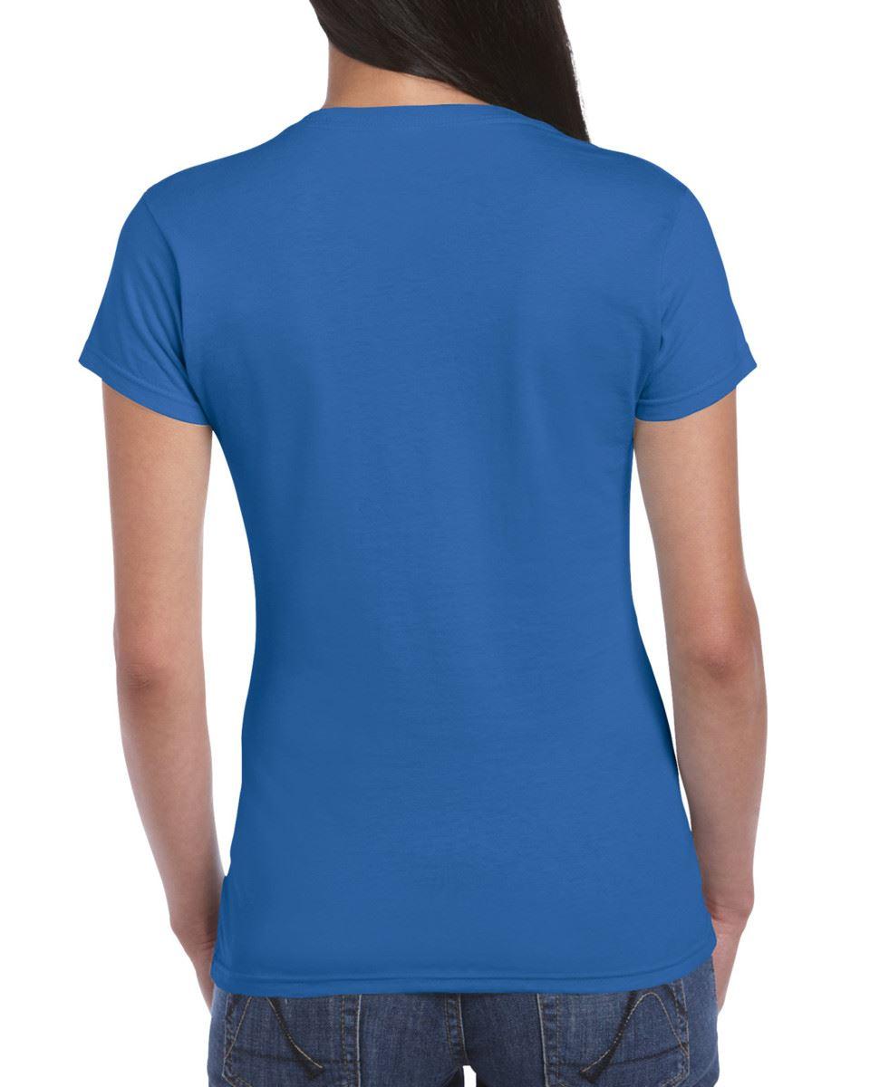 Gildan-Womens-Ladies-Soft-Style-Plain-V-Neck-T-Shirt-Cotton-Tee-Tshirt thumbnail 127