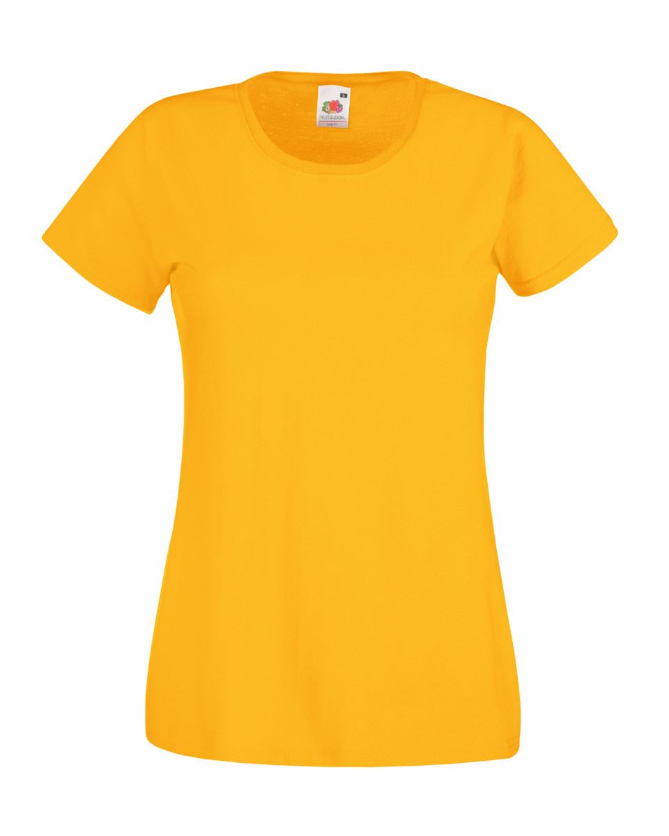 Fruit-of-the-Loom-Womens-Lady-Fit-T-Shirt-Valueweight-Plain-Blank-T-Shirt-Top thumbnail 42