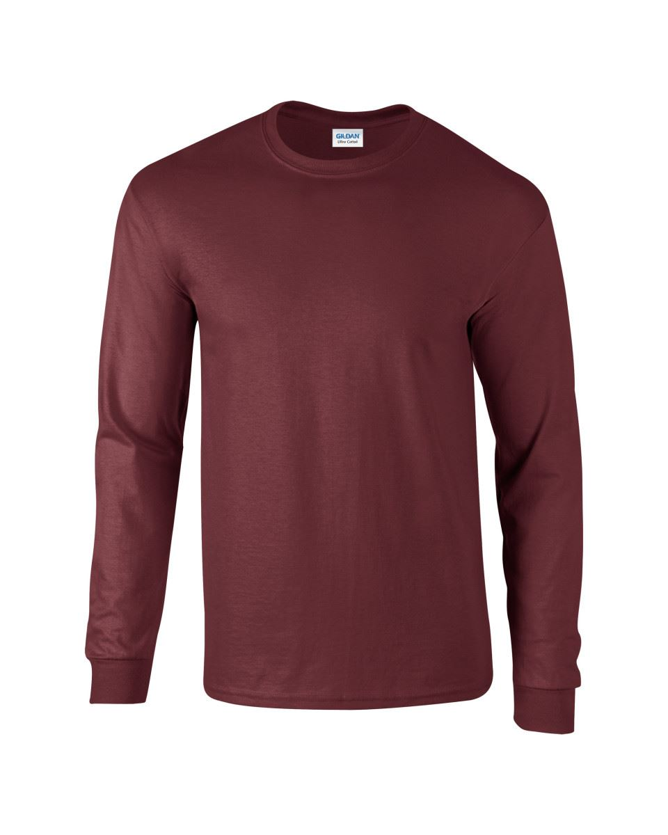 Gildan-Mens-Ultra-Cotton-Adult-Long-Sleeve-Plain-T-Shirt-Tshirt-Cotton-Tee-Shirt thumbnail 90