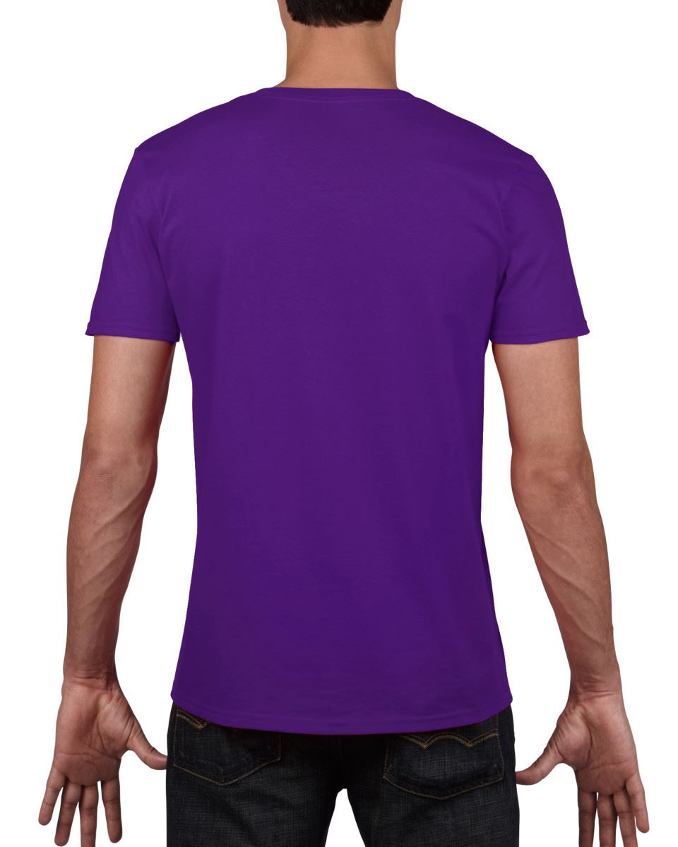 Gildan-Mens-Men-039-s-Soft-Style-Plain-V-Neck-T-Shirt-Cotton-Tee-Tshirt thumbnail 44