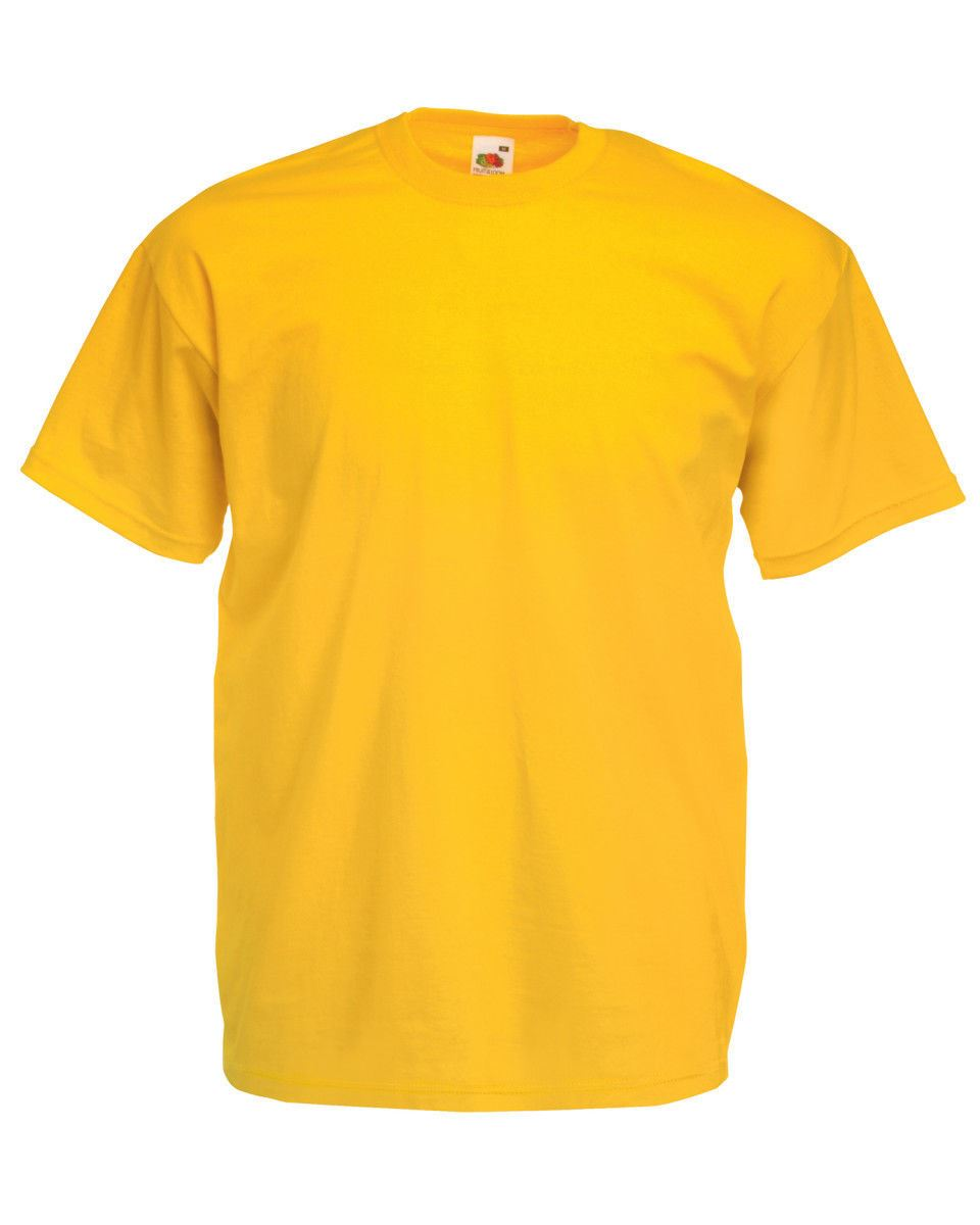 Fruit-Of-The-Loom-Mens-Womens-Valueweight-Plain-Crew-Neck-T-Shirt-Tee-Cotton thumbnail 158