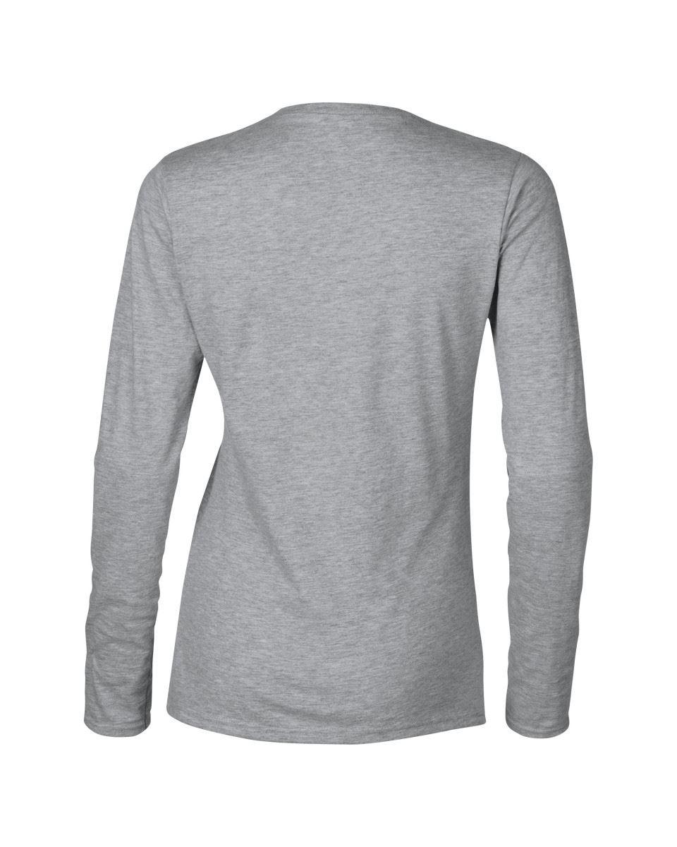 GILDAN-softsyle-Femmes-T-shirt-homme-a-manches-longues-100-Coton-Doux-Decontracte-Femme miniature 41