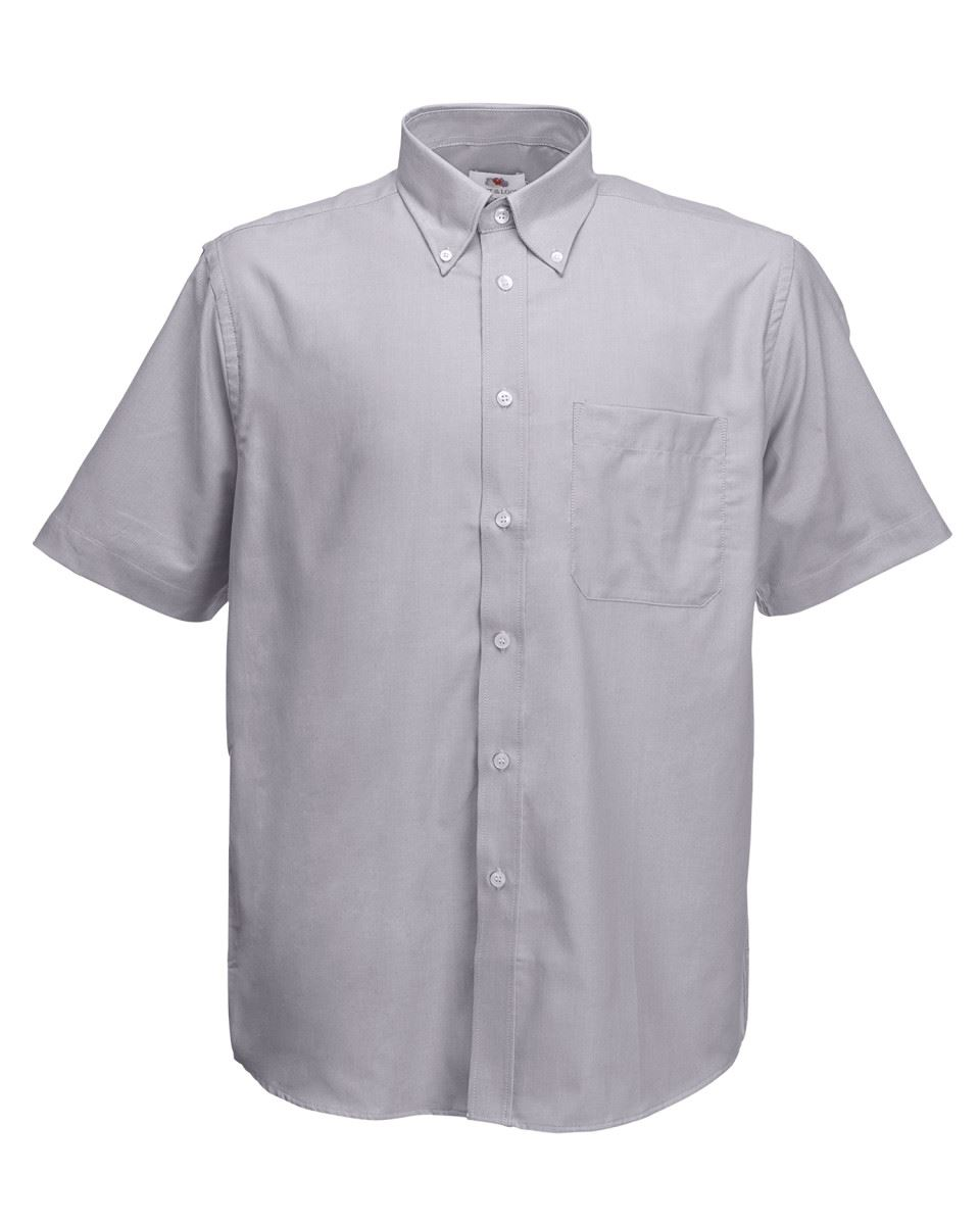 Fruit-of-the-Loom-Mens-Classic-Oxford-Short-Sleeve-Smart-Business-Work-Shirt-New thumbnail 15