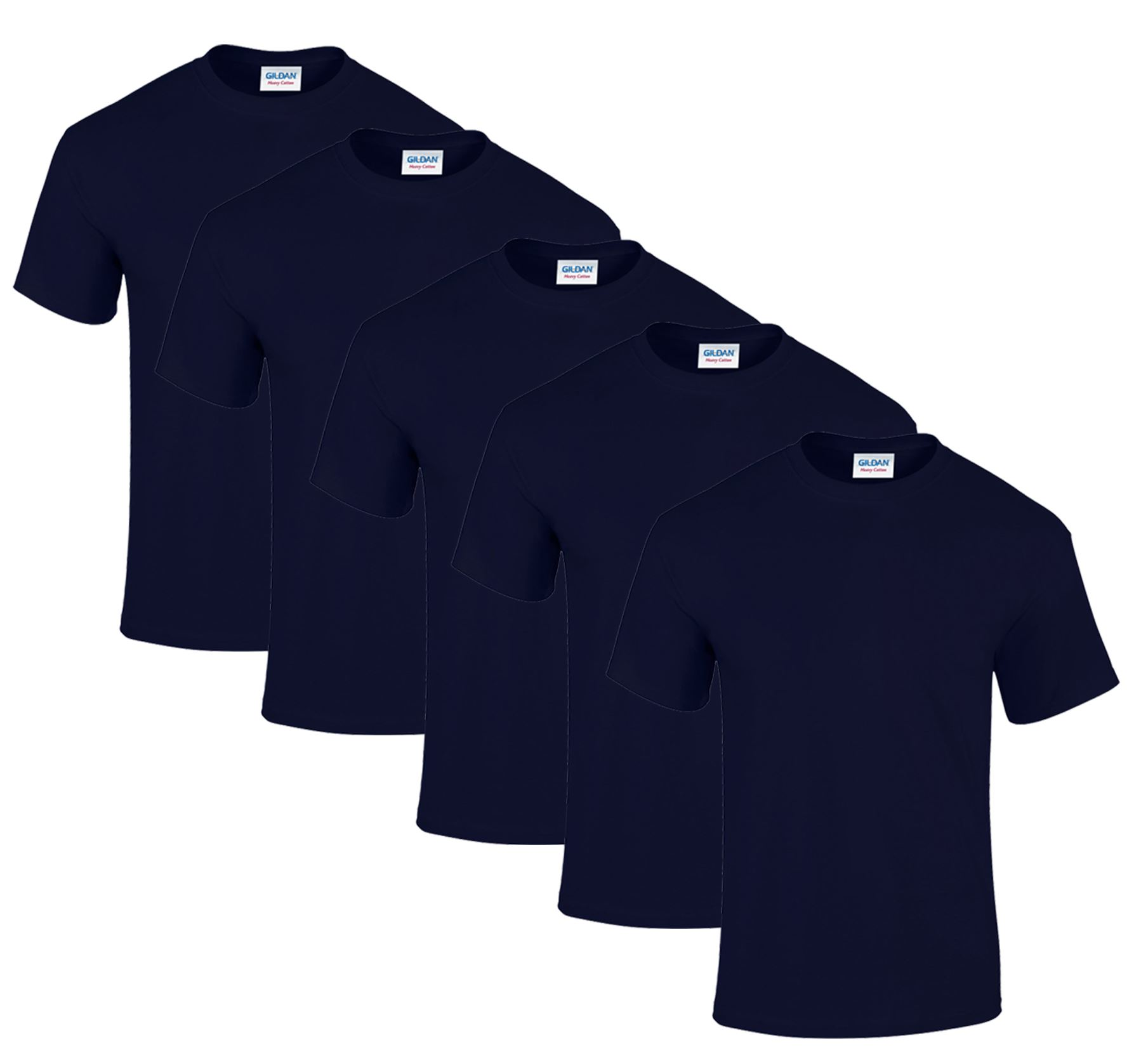 Pack de 5 Gildan Camiseta para Hombre