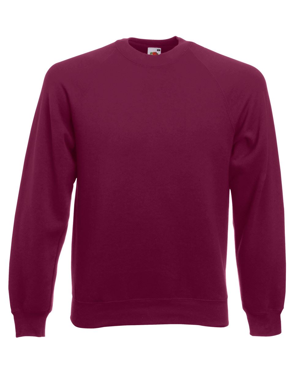 Mens-Sweatshirt-Fruit-Of-The-Loom-Raglan-Sweat-Pullover-Plain-Top-Jumper-Sweater thumbnail 16