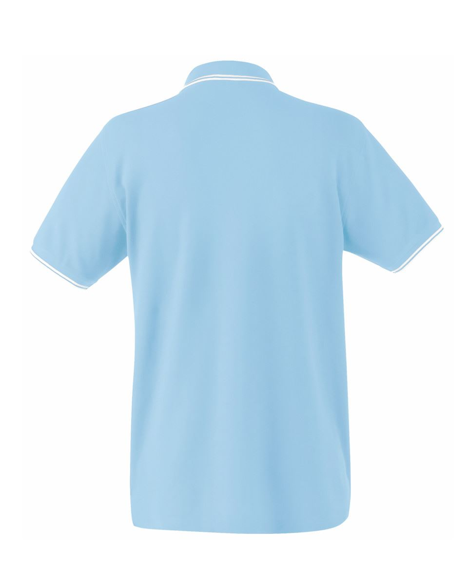FRUIT-OF-THE-LOOM-Men-039-s-Tipped-Polo-Contrast-Neck-Tape-Cuff-Pure-Cotton-Polo-Top thumbnail 13