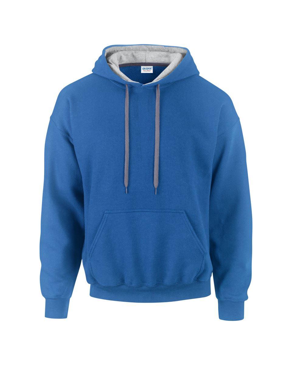 Gildan-Heavy-Blend-Plain-Contrast-Hooded-Sweatshirt-Hoodie-Sweat-Hoody-Jumper thumbnail 28