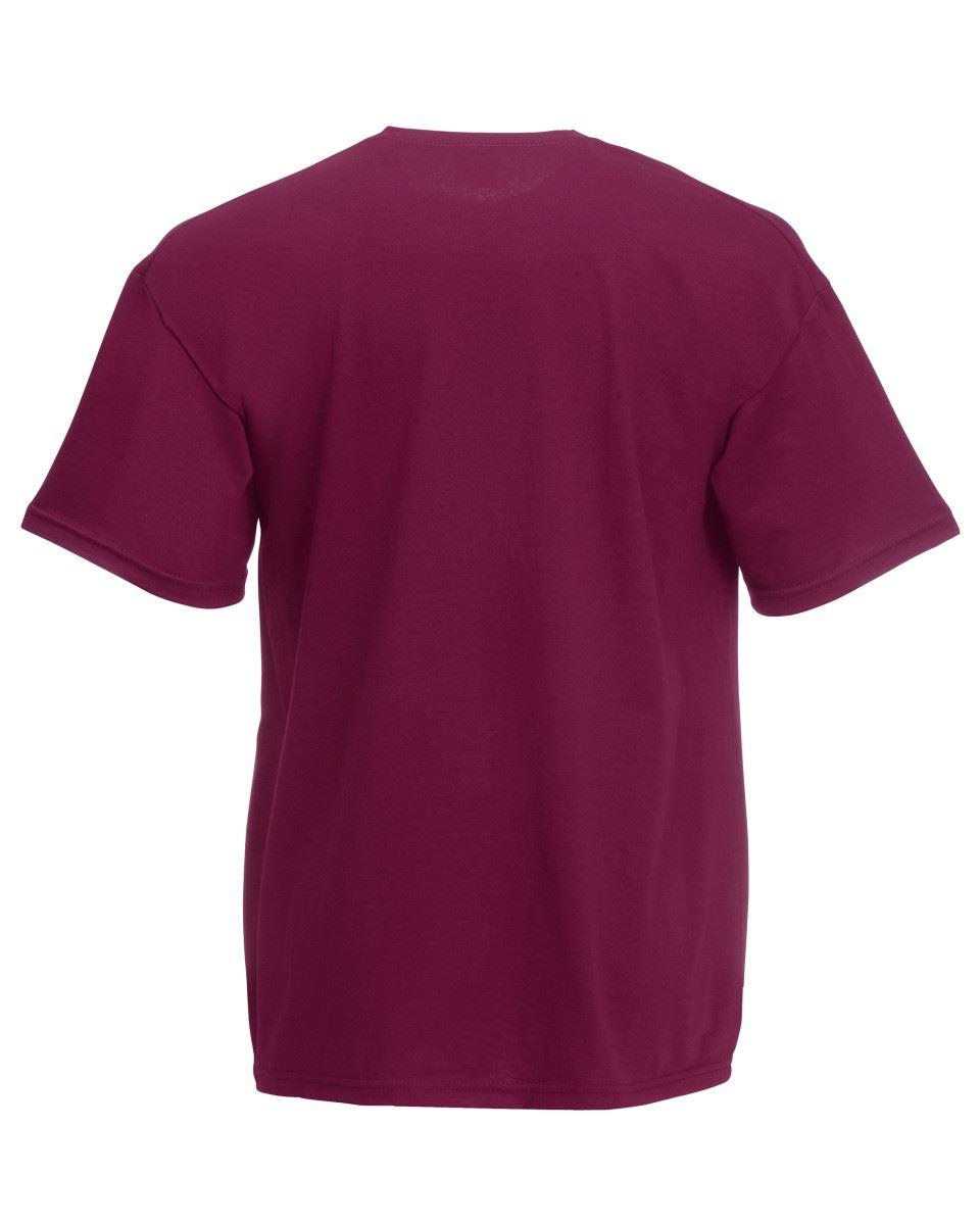 Fruit-of-the-Loom-Enfants-039-S-T-Shirt-Plain-Top-Enfants-Garcons-Filles-Ecole-Toutes-Tailles miniature 13