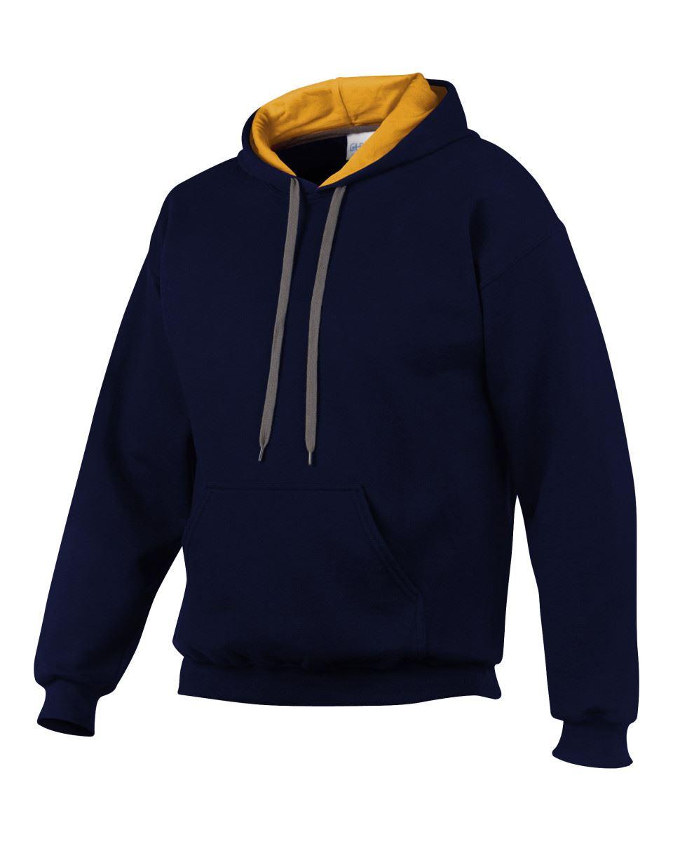 Gildan-Heavy-Blend-Plain-Contrast-Hooded-Sweatshirt-Hoodie-Sweat-Hoody-Jumper thumbnail 15