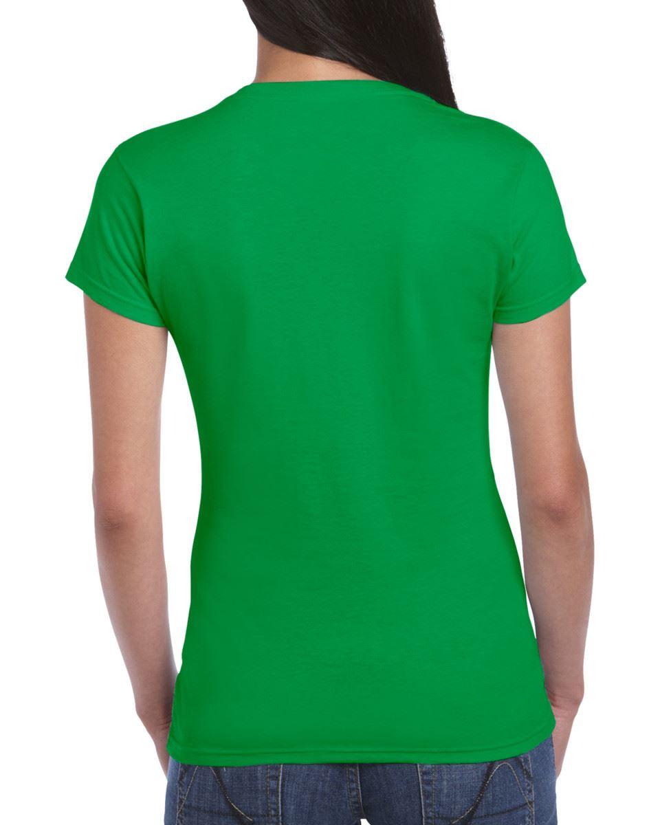 Gildan-Womens-Ladies-Soft-Style-Plain-V-Neck-T-Shirt-Cotton-Tee-Tshirt thumbnail 90