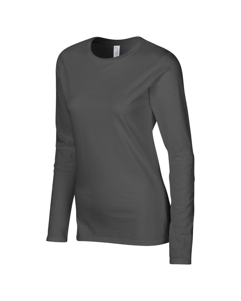 GILDAN-softsyle-Femmes-T-shirt-homme-a-manches-longues-100-Coton-Doux-Decontracte-Femme miniature 22