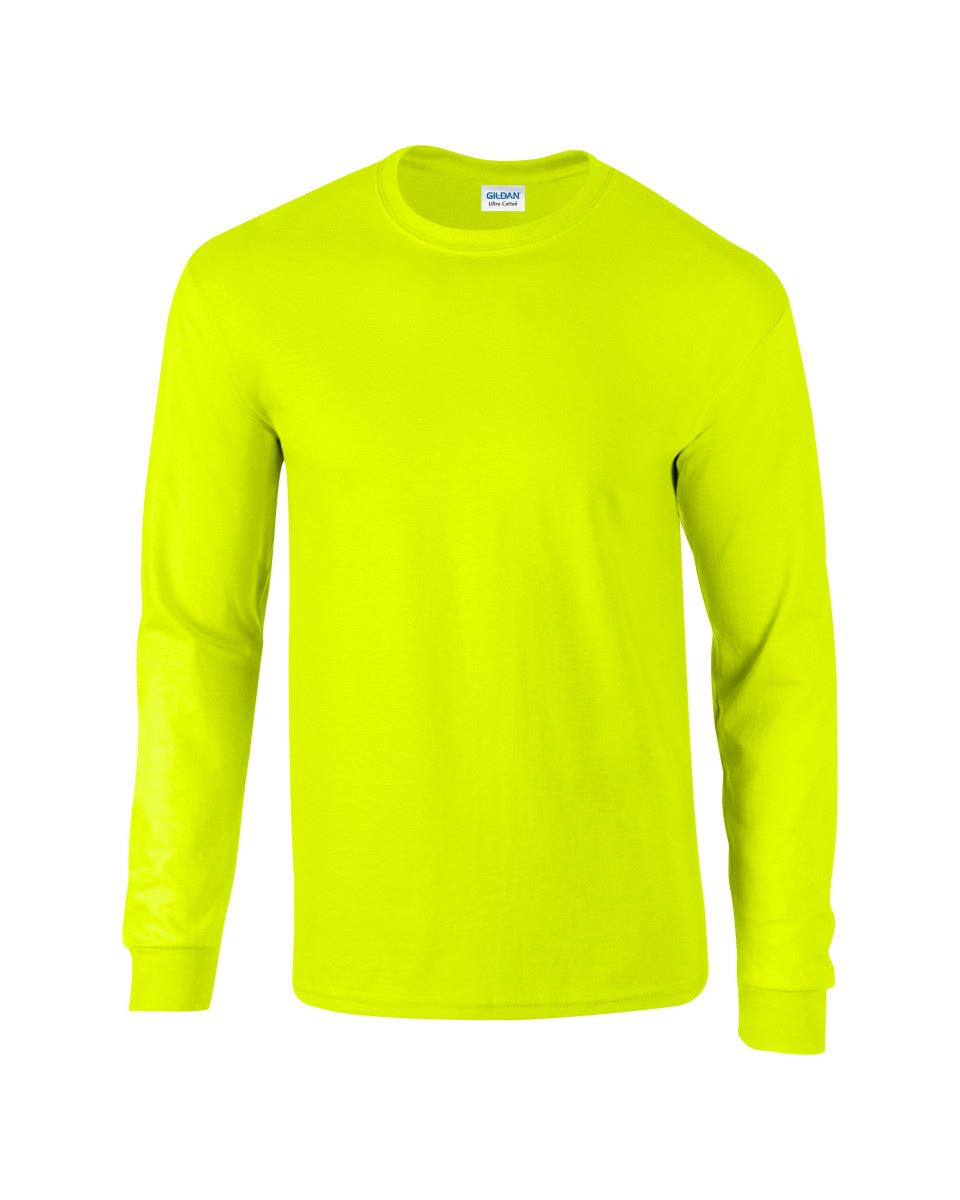 Gildan-Mens-Ultra-Cotton-Adult-Long-Sleeve-Plain-T-Shirt-Tshirt-Cotton-Tee-Shirt thumbnail 100