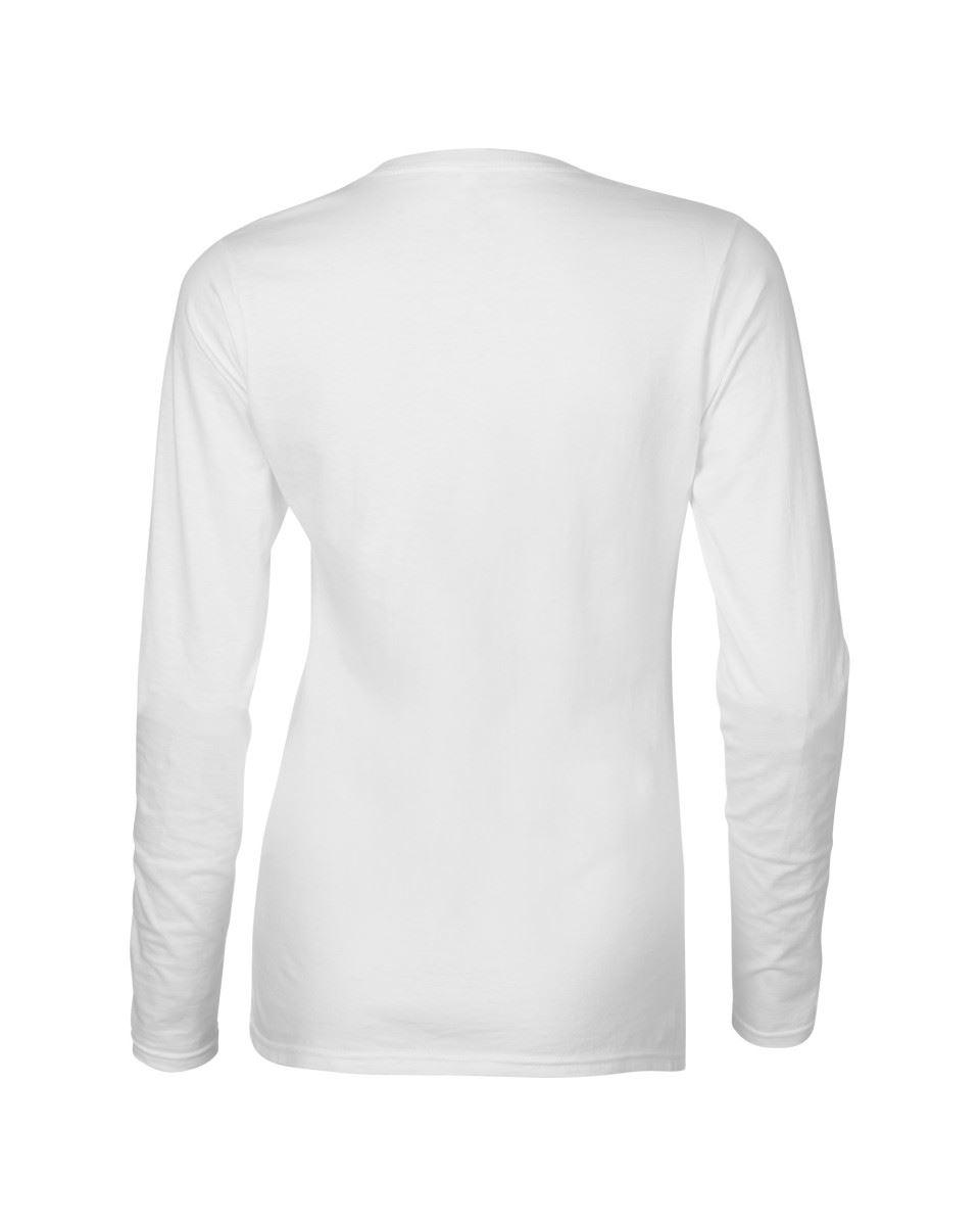 GILDAN-softsyle-Femmes-T-shirt-homme-a-manches-longues-100-Coton-Doux-Decontracte-Femme miniature 6